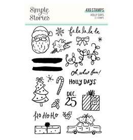 simple stories Holly Days- Stamps