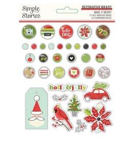 simple stories Make it Merry  - Decorative Brads
