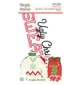 simple stories Simple Pages Page Pieces - Ugly Christmas Sweater