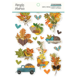 Simple Stories Simple Vintage Country Harvest -  Sticker Book