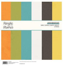 Simple Stories Simple Vintage Country Harvest - 12x12 Basics Kit