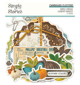 Simple Stories Simple Vintage Country Harvest - Chipboard Clusters