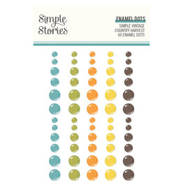 Simple Stories Simple Vintage Country Harvest - Enamel Dots