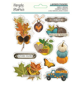 Simple Stories Simple Vintage Country Harvest - Layered Stickers