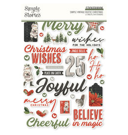 simple stories Simple Vintage Rustic Christmas -  Sticker Book