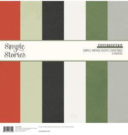 simple stories Simple Vintage Rustic Christmas - 12x12 Basics Kit
