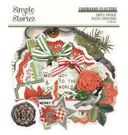 simple stories Simple Vintage Rustic Christmas - Chipboard Clusters