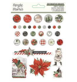 simple stories Simple Vintage Rustic Christmas - Decorative Brads