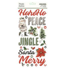 simple stories Simple Vintage Rustic Christmas - Foam Stickers