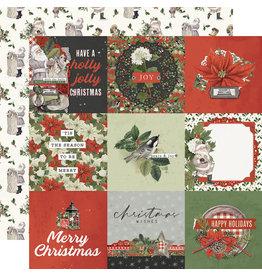 simple stories Simple Vintage Rustic Christmas Paper - 4x4 Elements