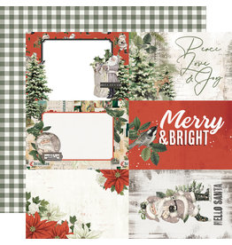 simple stories Simple Vintage Rustic Christmas Paper - 4x6 Elements