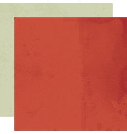simple stories Simple Vintage Rustic Christmas Paper - Cranberry/Sage