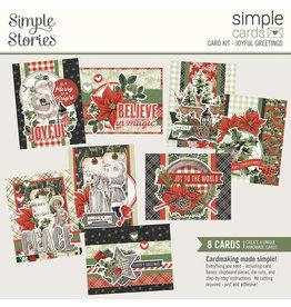 simple stories Simple Vintage Rustic Christmas Simple Cards Card Kit - Joyful Greetings