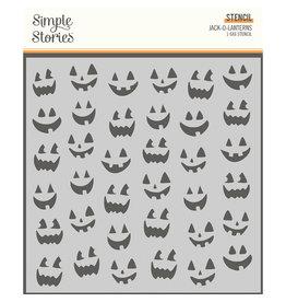 simple stories Spooky Nights - 6x6 Stencil - Jack-O-Lanterns
