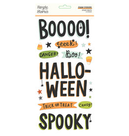 simple stories Spooky Nights - Foam Stickers