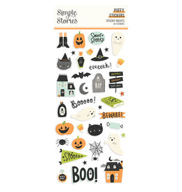 simple stories Spooky Nights - Puffy Stickers