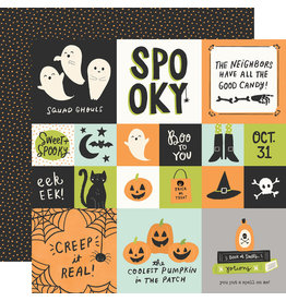 simple stories Spooky Nights Paper - 2x2/4x4 Elements