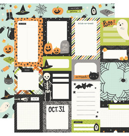 simple stories Spooky Nights Paper - Journal Elements