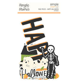 simple stories Spooky Nights Simple Pages Page Pieces - Happy Halloween