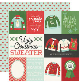 simple stories Ugly Christmas Sweater  Paper- Element Cards