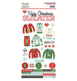 simple stories Ugly Christmas Sweater - 6x12 Cardstock Sticker