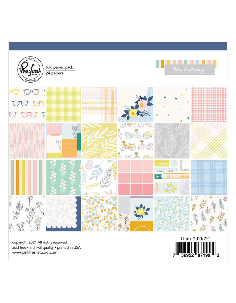 Pink Fresh The Best Day: 6x6 Paper Pad