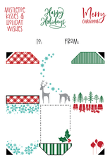 LDRS Christmas 4x6 Gift Tag Stack Stamp