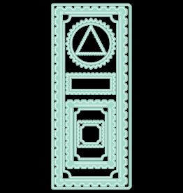 LDRS Diagonal Stitched Postage Frames Slimline Dies