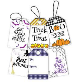 LDRS Halloween 4x6 Gift Tag Stack Stamp