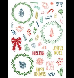 LDRS Peace & Joy 6x8 Pirouette Stamps