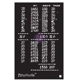 PRIMA MARKETING INC Finnabair Stencil: 6X9 Book Of Numbers