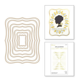 spellbinders Essential Glimmer Label Hot Foil Plate