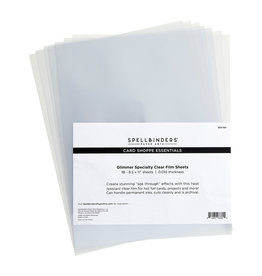 spellbinders Glimmer Specialty Clear Film Sheets