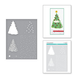 spellbinders Layered Christmas Tree Stencil