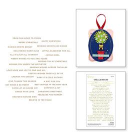 spellbinders Mini Christmas Sentiment Strips Hot Foil Plate and Die