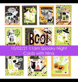 nina boettcher 10/02/21 Spooky Night Cards with Nina