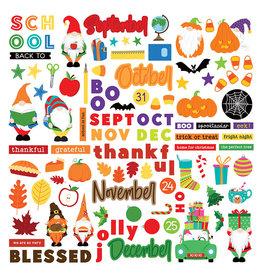 Photoplay Gnome Calendar: Element Sticker Sept-Dec