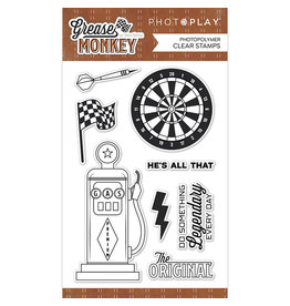 """Photoplay Grease Monkey: 4""""x6"""" Stamp Set"""