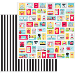 DOODLEBUG fun at the park:main street double-sided cardstock