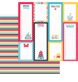 DOODLEBUG fun at the park:goofy stripe double-sided cardstock