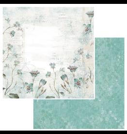 49 & Market Vintage Artistry Teal Paper: Whisper