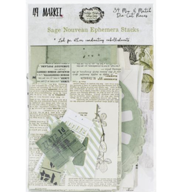 49 and Market Vintage Artistry Sage: Nouveau Ephemera Stack