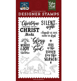 Echo Park The First Noel:  Glory To God Stamp Set