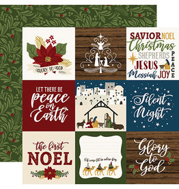Echo Park The First Noel Paper:  4X4 Journaling Cards