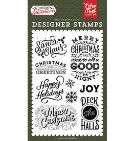 Echo Park Salutations Christmas: Santa Claus Stamp Set