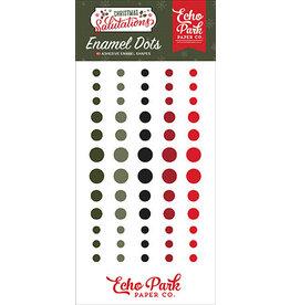 Echo Park Salutations Christmas:  Enamel Dots