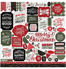 Echo Park Salutations Christmas:  Element Sticker