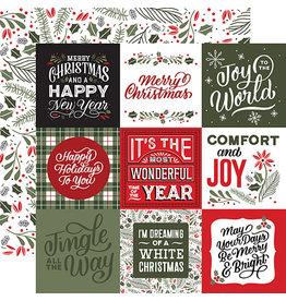 Echo Park Salutations Christmas Paper: Journaling Squares