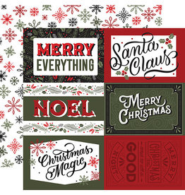 Echo Park Salutations Christmas Paper: 6X4 Journaling Cards