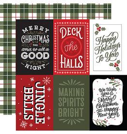 Echo Park Salutations Christmas Paper: 4X6 Journaling Cards